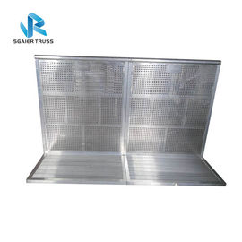 1.0 * 1.25 * 1.2m Aluminum Crowd Control Barrier With Slope Outdoor Use