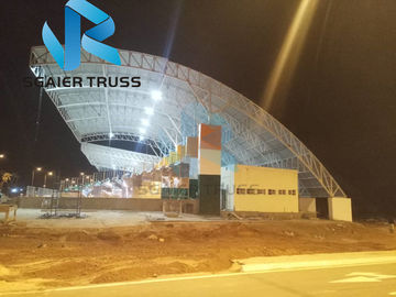 Sunshade Prefabricated Steel Structure For Stadium Bleachers Tent Tensile Membrane
