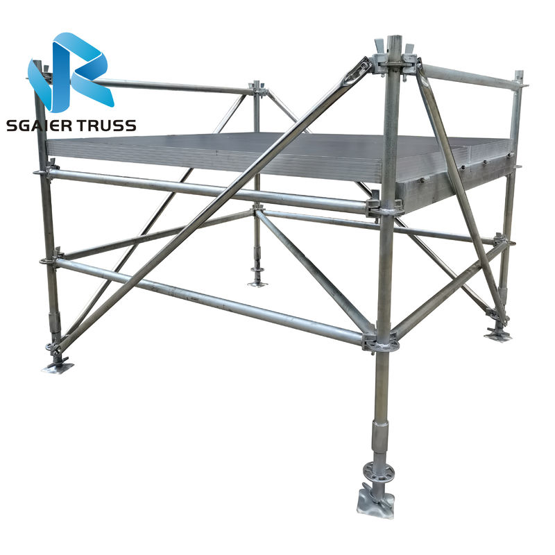Iron Layer Portable Stage Equipment With Black Deck Boards