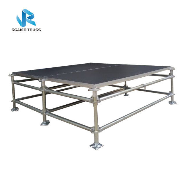 Adjustable Foot 4x8ft 2*1m Modular Steel Stage Scaffolding
